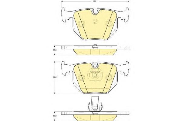 6115272 Колодки тормозные BMW X3 E83/X5 E53/3 E46 2.5/3.0/RANGE ROVER III 02- задние