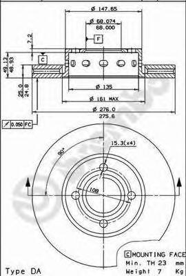 09572410 Тормозной диск
