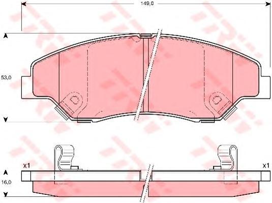 GDB3241 Колодки тормозные KIA SPORTAGE 2.0 94-03 передние
