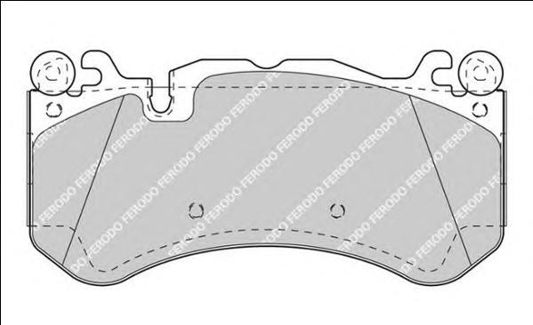 FDB4373 Колодки тормозные MERCEDES W204/W211/W212/R230 63 AMG передние
