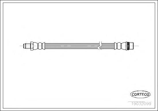 19032099 Шланг тормозной RENAULT: KANGOO 1.2/1.2 16V/1.4/1.5 dCi/1.5 dCi/1.5 dCi/1.6/1.6 16V/1.6 16V 4x4/1.6 16V bivalent/1.9 dC