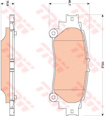 GDB3497 Колодки тормозные LEXUS RX 350/450h 09- задние