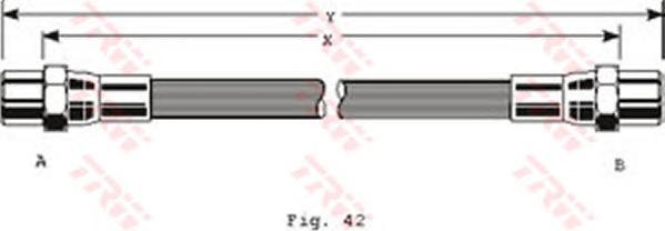 PHA289 Шланг тормозной AUDI 100 90-94/A6 95-97 295mm. перед.