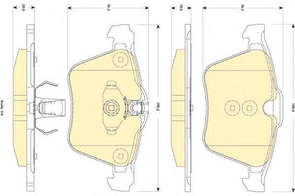 6118352 Колодки тормозные JAGUAR FX 09-/XJ 10- передние