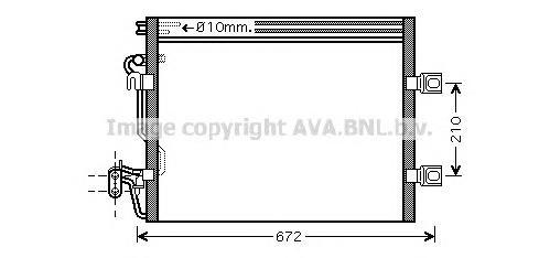 MSA5392 Конденсер MB W221 3.2-6.0/6.3 AMG/6.5 AMG 05-