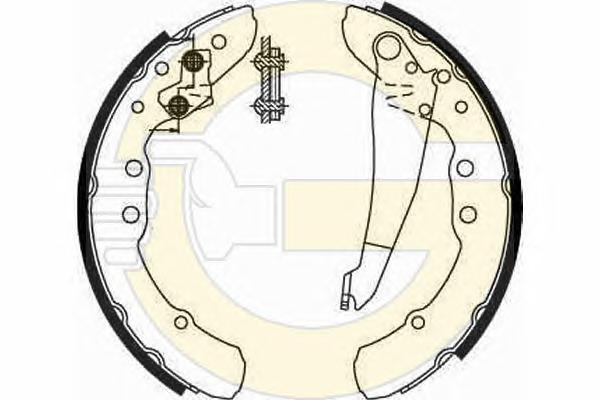 5185449 Колодки торм.бар.AUDI 100/80/VW CADDY/G2/G3/PASSAT 77-04
