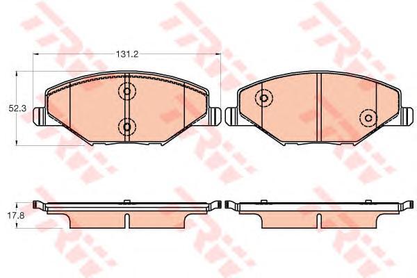 GDB2027 Колодки тормозные VW POLO (RUS) 11-/SKODA FABIA 11- передние