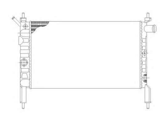 58930 Радиатор OP Astra F, -AC, 1.4i-1.6i МКПП