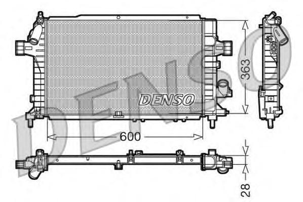 DRM20104 Радиатор системы охлаждения OPEL: ASTRA H 1.7 CDTI 04 - , ASTRA H GTC 1.7 CDTI/1.7 CDTi 05 - , ASTRA H универсал 1.7 CD