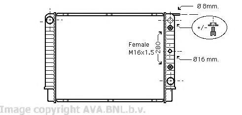 VO2098 Радиатор VOLVO 960 2.5/2.9 90-99
