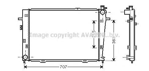 HY2126 Радиатор системы охлаждения HYUNDAI: TUCSON (JM) 2.0 CRDi/2.0 CRDi Привод на все колеса 04 -