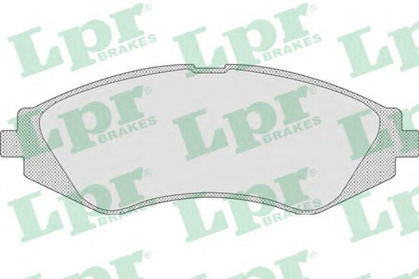 05P710 Колодки тормозные CHEVROLET LANOS/LACETTI/REZZO/DAEWOO NEXIA/NUBIRA/LEGANZA пер.