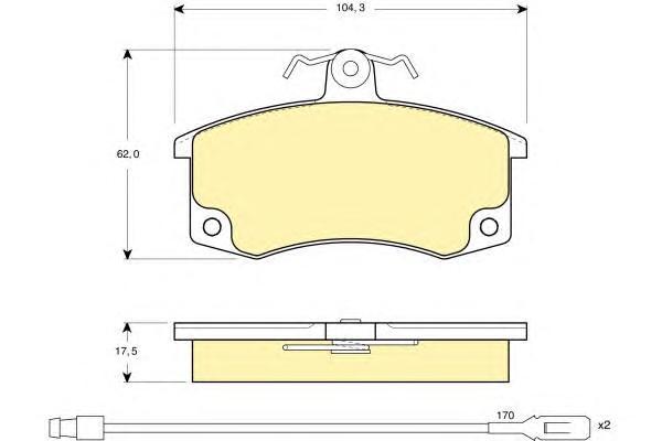 6114461 Колодки тормозные ВАЗ 2110/2111/2112 передние с датчиком