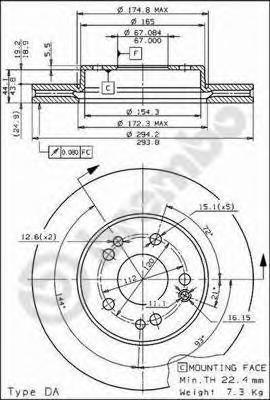 09674510 Тормозной диск