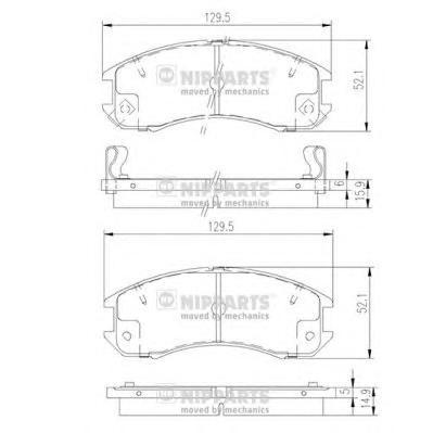 J3603031 Колодки тормозные MAZDA 626 1.6-2.2 87-97 передние