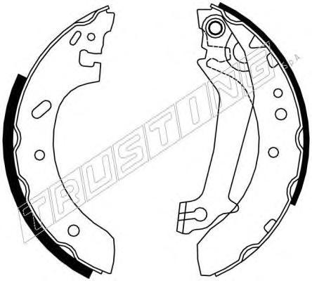 040142 К-т торм. колодок бараб. FO Escort 95-99, Fiesta