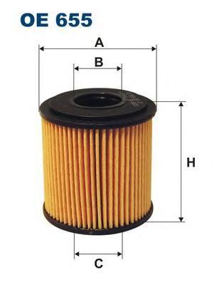 OE655 Фильтp маслянный (10130060 100715 001125