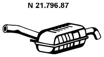 2179687 Глушитель E38 740i/iL
