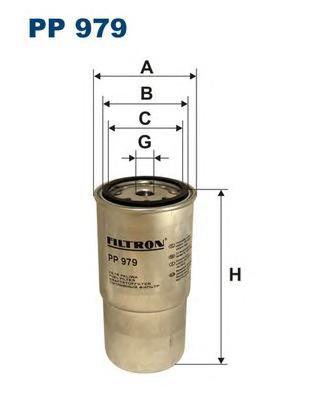 PP979 Фильтр топливный HYUNDAI ELANTRA/SANTA FE 2.0CRDI