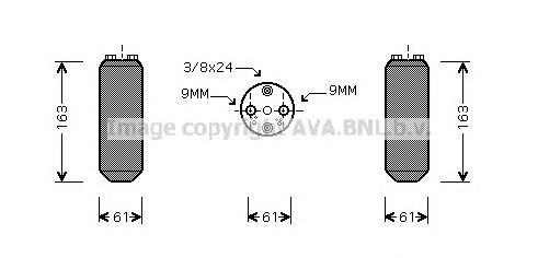 DND037 Осушитель кондиционера NISSAN ALMERA / MICRA / PRIMERA 1.0-2.0 90-00