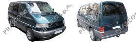 VW9151001 Бампер передний, черный / VW Transporter T-4 96~03