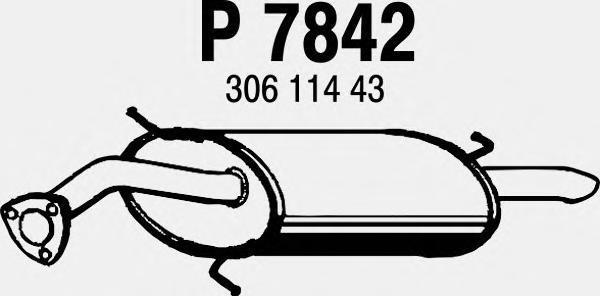 P7842 Глушитель VOLVO S40 / V40 1.9DI 00-04