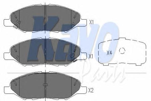KBP6578 Колодки тормозные NISSAN MICRA/NOTE/TIIDA 01- передние
