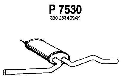 P7530 Резонатор VW PASSAT 1.9TDI 98-05