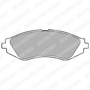 LP1779 Колодки тормозные CHEVROLET LANOS/LACETTI/REZZO/DAEWOO NEXIA/NUBIRA/LEGANZA пер.