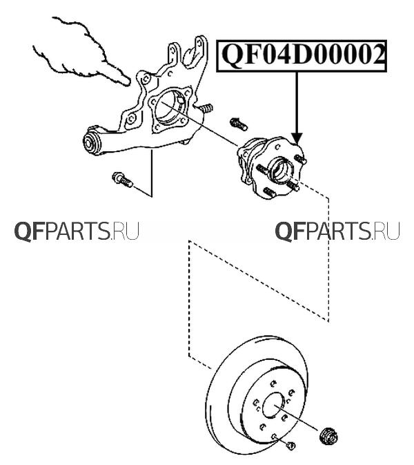 qf04d00002 СТУПИЦА RR RH LH LEXUS RX270 350 450H