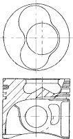8711490720 Поршень VAG POLO/FABIA 1,9SDI -09 0,5mm(комплект)