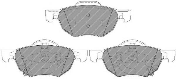 FDB1704 Колодки тормозные HONDA ACCORD 2.0/2.2/2.4 03 передние