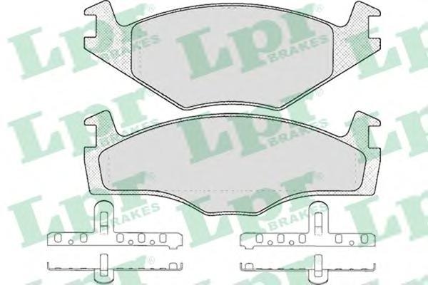 05P591 Колодки тормозные дисковые передн SEAT: CORDOBA 94-99, CORDOBA Vario 99-, IBIZA II 93-99,  SKODA: FELICIA I 94-98, FELICI