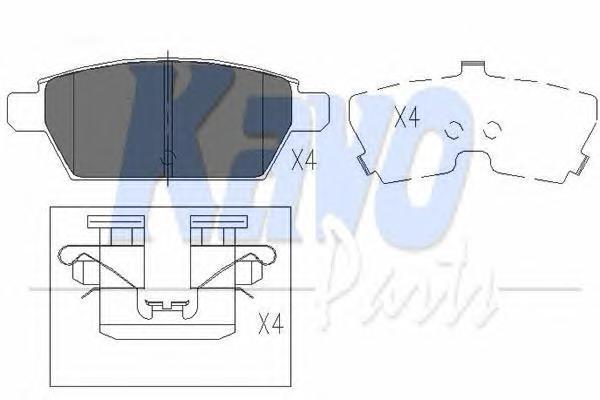 KBP4554 Колодки тормозные MAZDA 6 05- задние