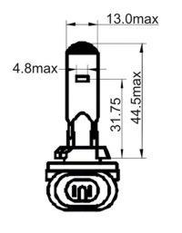 203027 Лампа накаливания H27W/2 12V 27W(PGJ13)