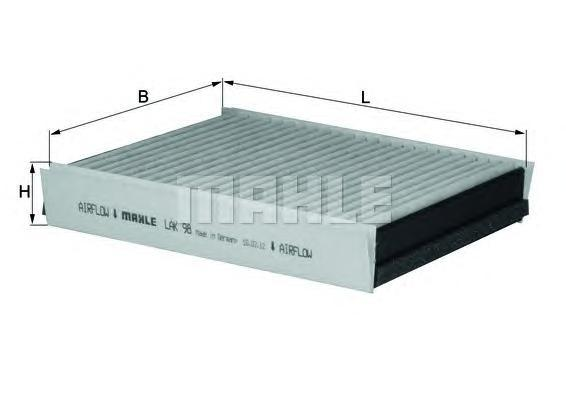 LAK98 Фильтр салона MB W163 98-05 угольный