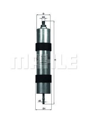 KL104 Фильтр топливный BMW 5 98-03 , Z8 4.9 00-03