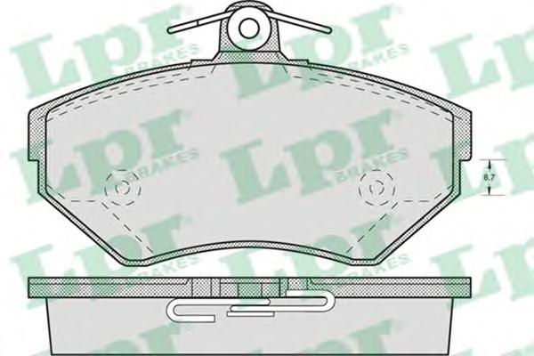 05P719 Колодки тормозные AUDI A4 1.6/1.8/1.9D 9500/VOLKSWAGEN PASSAT 9700 передние