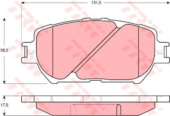 GDB3314 Колодки тормозные TOYOTA CAMRY (_V30_) 2.4/3.0 0104 передние
