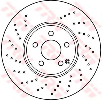 DF6079S Диск тормозной MERCEDES W211/W220 4-matic передний вент.D=330мм.
