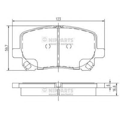 J3602096 Колодки тормозные TOYOTA AVENSIS VERSO 2.0/2.0D 01- передние