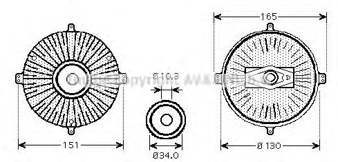 MSC413 Вискомуфта MB W140 4.2/5.0