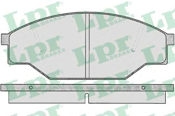 05P266 Колодки тормозные TOYOTA HIACE 1.8-2.4D 83-89 передние