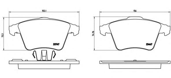 P85107 Колодки тормозные дисковые передн, VW: MULTIVAN V 1.9 TDI/2.0/2.0 BiTDI/2.0 BiTDI 4motion/2.0 TDI/2.0 TDI 4motion/2.5 TDI