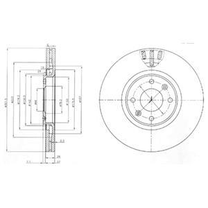 BG4002 Диск тормозной CITROEN C4 1.6-2.0 04-/PEUGEOT 307 2.0 03- передний вент.D=302мм.