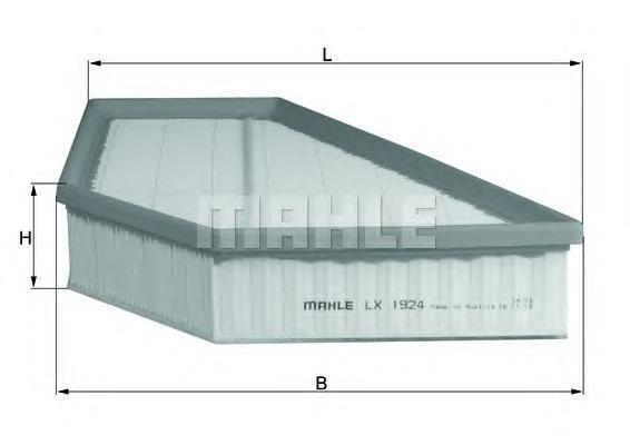 LX1924 Фильтр воздушный VOLVO C30/S40 2.4 06-