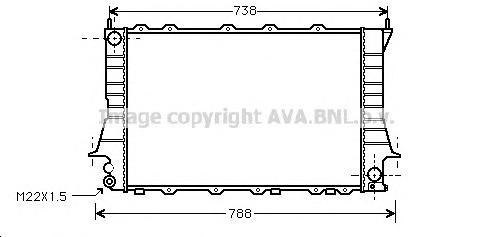 AIA2083 Радиатор AUDI 100 2.6/2.8 92-95