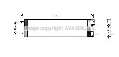 CR5025 Конденсер CHRYSLER VOYAGER 2.5-3.3 96-