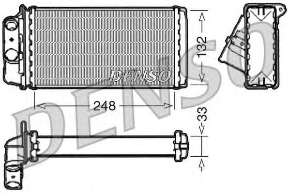 drr09050 Радиатор отопителя FIAT: PALIO (178BX) 1.0/1.1/1.2/1.3/1.3 JTD Multijet/1.4/1.4 KAT/1.5/1.6/1.6 16V/1.7 TD/1.9 D 96 - ,