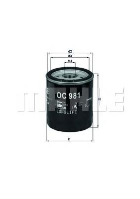 OC981 Фильтр масляный SKODA/SAAB 1.0/3.0
